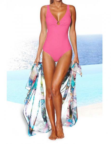 HEINE rozā krāsas viengabala sieviešu peldkostīms