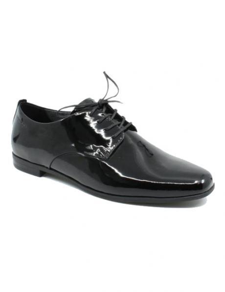 Sieviešu melni lakoti klasiski apavi ar šņorēm Marilyn VAGABOND
