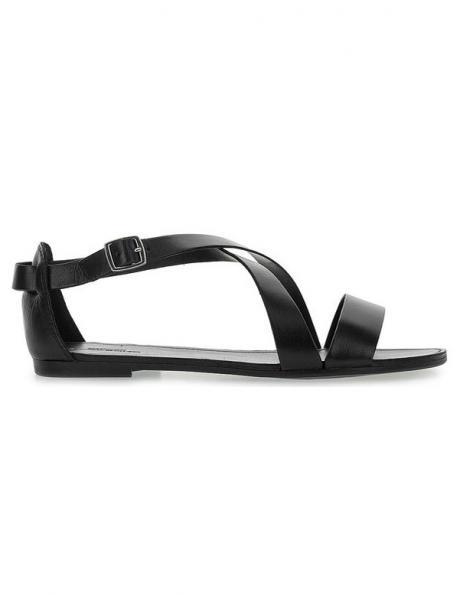 VAGABOND sieviešu melnas ādas sandales TIA