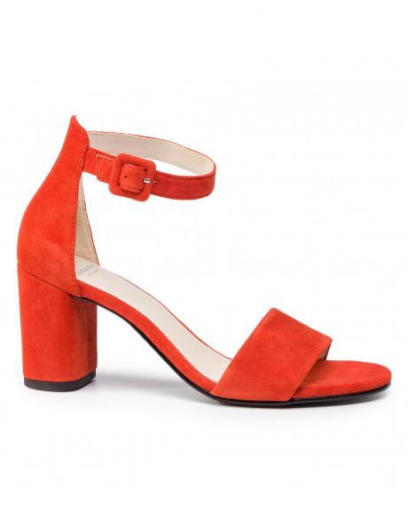 VAGABOND sieviešu sarkanas ādas augstpapēžu sandales PENNY