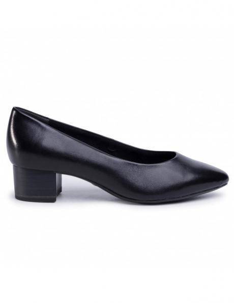TAMARIS sieviešu melni ādas apavi