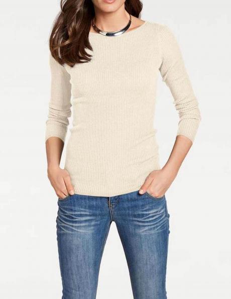 Krēmīgas krāsas džemperis ar zīdu HEINE