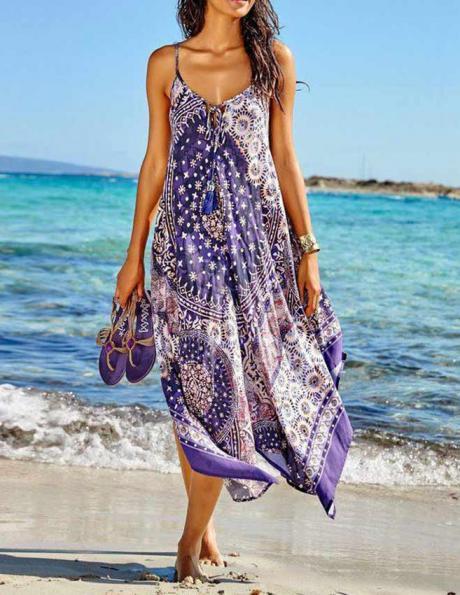 Krāsaina pludmales kleita HEINE