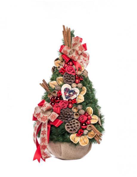 Dekoratīva Ziemassvētku eglīte, 75 cm PINUS