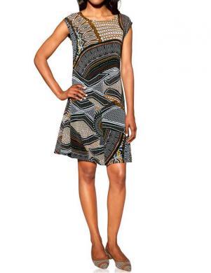 S. MADAN krāsaina stilīga sieviešu kleita