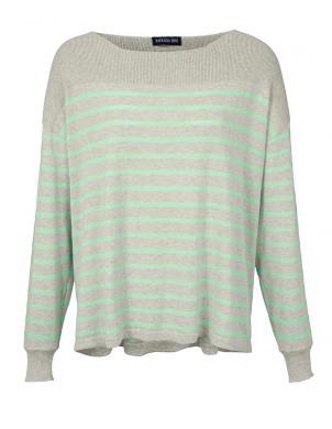 Pelēka/zaļš sieviešu džemperis PATRIZIA DINI