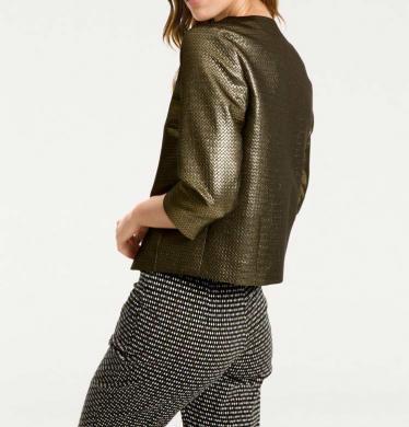 Stilīga sieviešu jaka zelta krāsā RICK CARDONA