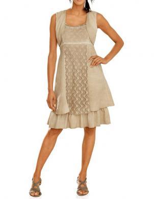 LINEA TESINI krēmīgas krāsas skaista sieviešu kleita
