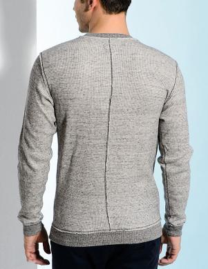 DIESEL vīriešu pelēkas krāsas kokvilnas džemperis SEBATIEN