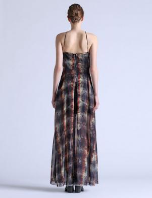 DIESEL sieviešu krāsaina melsva kleita su pamušalu D-STELLA