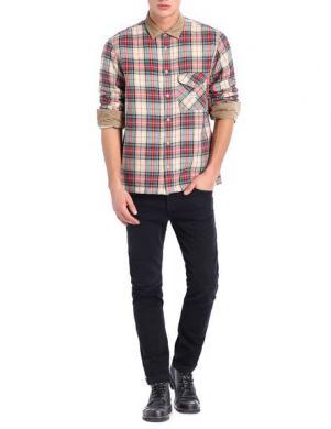 DIESEL vīriešu rūtains krekls ar siltinājumu