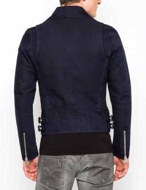 DIESEL vīriešu tumši zila silta džinsa jaka J-GIBSON