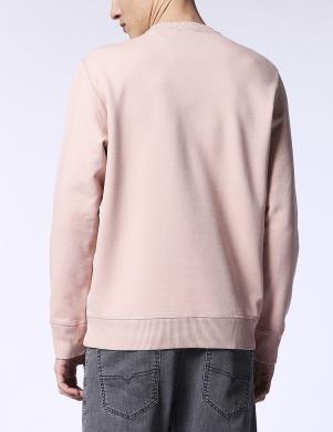 DIESEL vīriešu rozā krāsas kokvilnas džemperis S-JOE-MB FELPA
