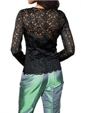 S. MADAN sieviešu melnas krāsas blūze