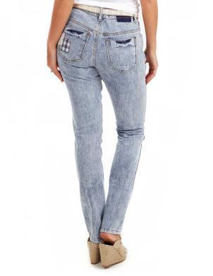 JOE BROWNS sieviešu zilas krāsas kokvilnas džinsa bikses