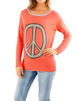 RICK CARDONA sieviešu oranžas krāsas džemperis