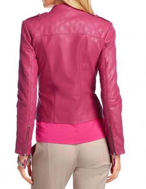 APART ādas sieviešu jaka rozā krāsā