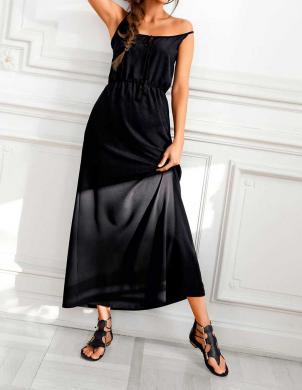 ASHLEY BROOKE gara melnas krāsas sieviešu kleita