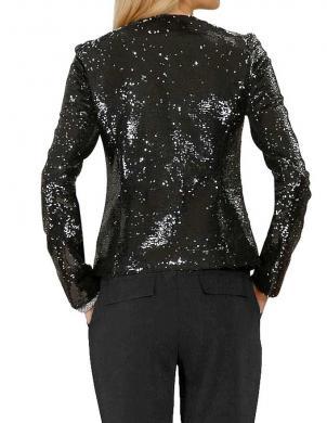 APART melnas krāsas mirdzoša sieviešu jaka