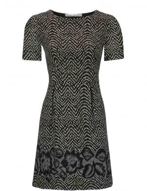 Melna/krēmīga sieviešu kleita ASHLEY BROOKE