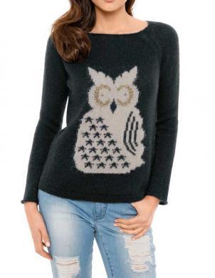 RICK CARDONA silts melnas krāsas sieviešu džemperis