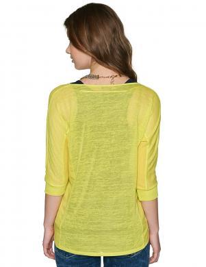 TOM TAILOR spilgti dzeltenas krāsas sieviešu blūze