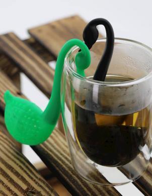 EASY LINE plastmasas tējas sietiņš SWAN zaļš