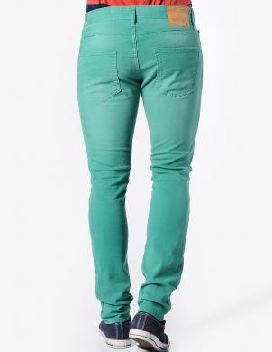 JACK&JONES zaļas krāsas stilīgas vīriešu bikses TIM ORIGINAL PORCELAIN