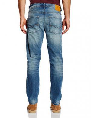 JEANS INTELLIGENCE BY JACK&JONES zilas krāsas vīriešu džinsa kokvilnas bikses MIKE ORIGINAL GE