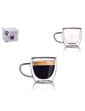 ORION dubulta borsilikāta stikla espresso krūze ar rokturi  110 ml