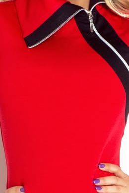 NUMOCO sarkanas krāsas sporta tipa sieviešu kleita