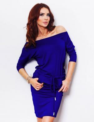 NUMOCO izteikti zilā krāsā ikdienas kleita