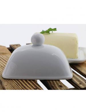 FOOD FOR FUN porcelāna eleganta dizaina sviesta trauks
