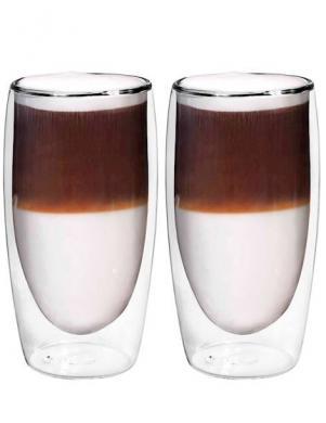BORAL dubulta stikla trauks - glāze 350 ml Latte Macchiato, 2 gab.