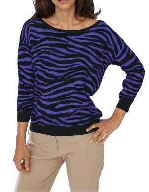 ASHLEY BROOKE svītrains kokvilna sieviešu džemperis