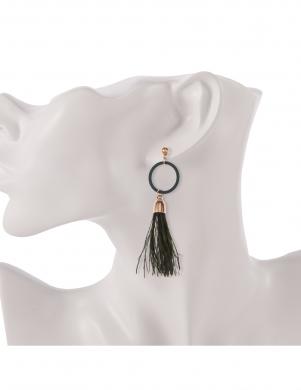 MADE FOR LOVING sieviešu haki krāsas auskari