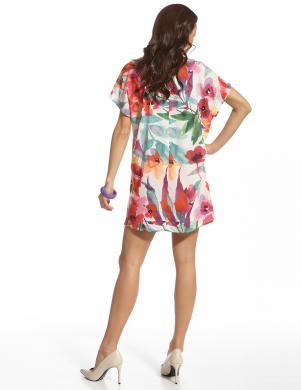 ENNY krāsaina puķaina sieviešu kleita
