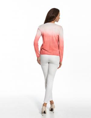 ENNY koraļļu krāsas sieviešu kokvilnas džemperis