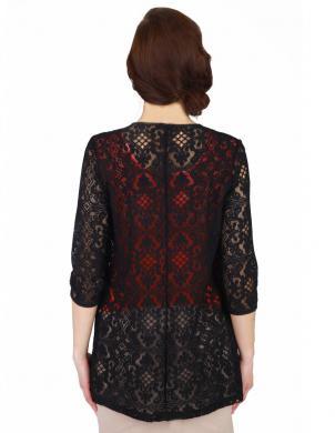 WAXIMA melnas krāsas gara sieviešu jaka