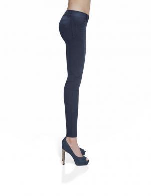BAS BLEU zilas sieviešu džinsa bikses