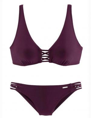 Tumši violets divu daļu peldkostīms BRUNO BANANI