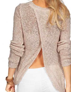 Smilšu krāsas viegls džemperis VERO MODA
