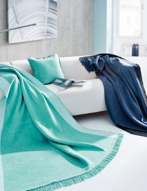 BIEDERLACK tirkīza krāsas pleds Nordica, 150x200