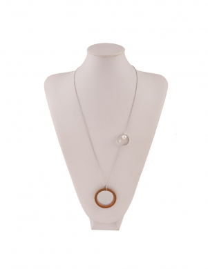 MADE FOR LOVING sieviešu sudraba krāsas kaklarota