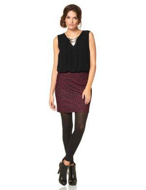 ANISTON bordo/melnas krāsas stilīga sieviešu kleita