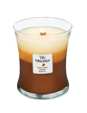 WOODWICK TRILOGY CAFE SWEET vidējā lieluma svece
