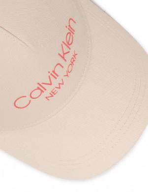 CALVIN KLEIN smilšu krāsas sieviešu cepure