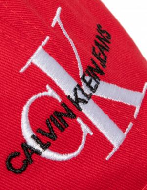 CALVIN KLEIN sarkana sieviešu cepure