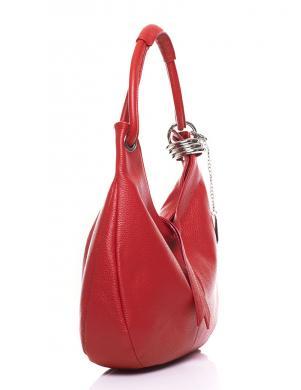 ANNA MORELLINI sarkana ādas sieviešu soma
