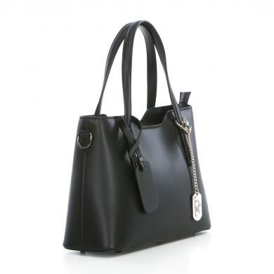 ANNA MORELLINI melna ādas sieviešu soma